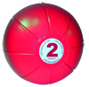 Live Medicine Ball 2 Kg - Red
